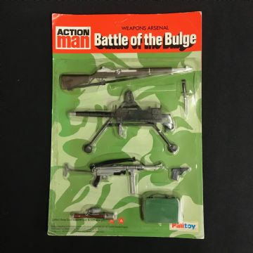 VINTAGE ACTION MAN - BATTLE OF THE BULGE - ULTRA RARE  Weapons Arsenal Card